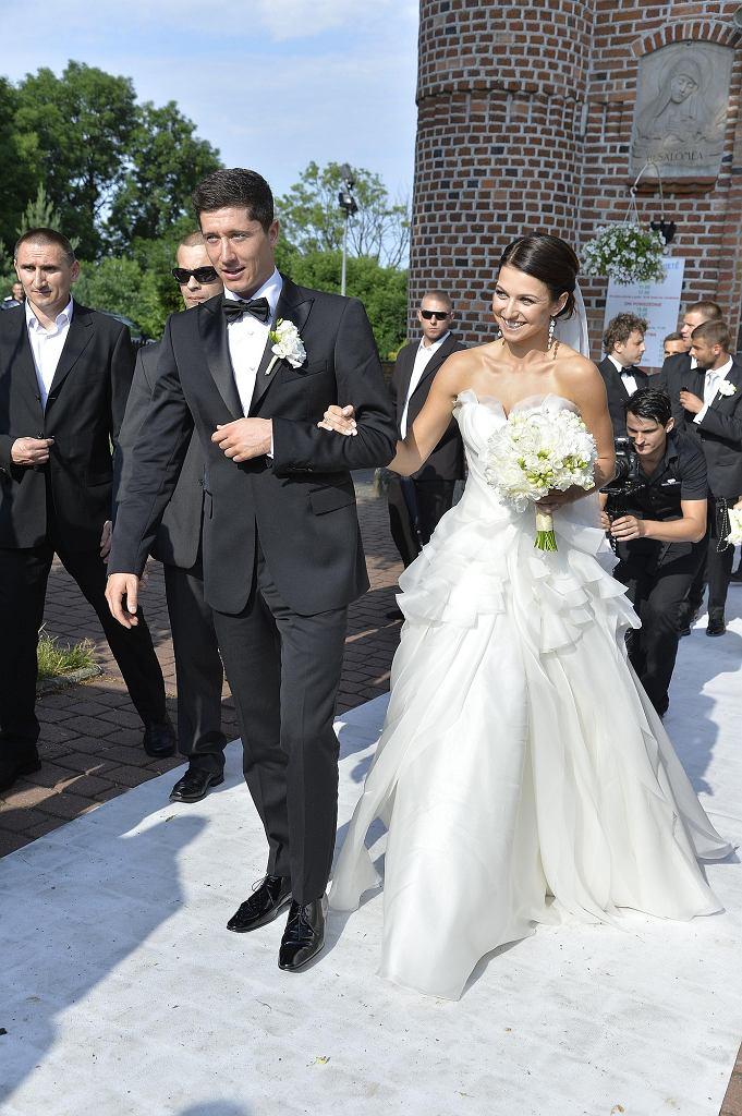 Robert Lewandowski i Anna Stachurska