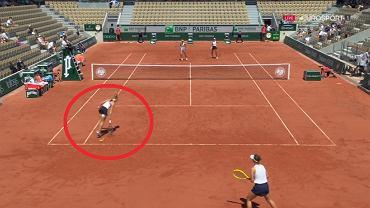 Błąd sędzi w meczu Linette/Pera - Krejcikova/Siniakova
