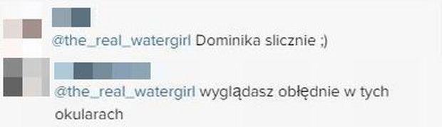 Komentarze na Instagramie Dominiki Zasiewskiej