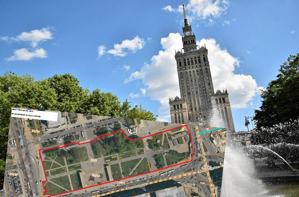 Obok Pałacu Kultury w Warszawie pojawi się tymczasowy park
