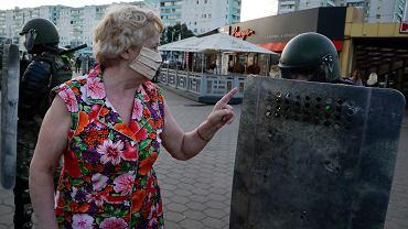 Uczestniczka protestów na Białorusi