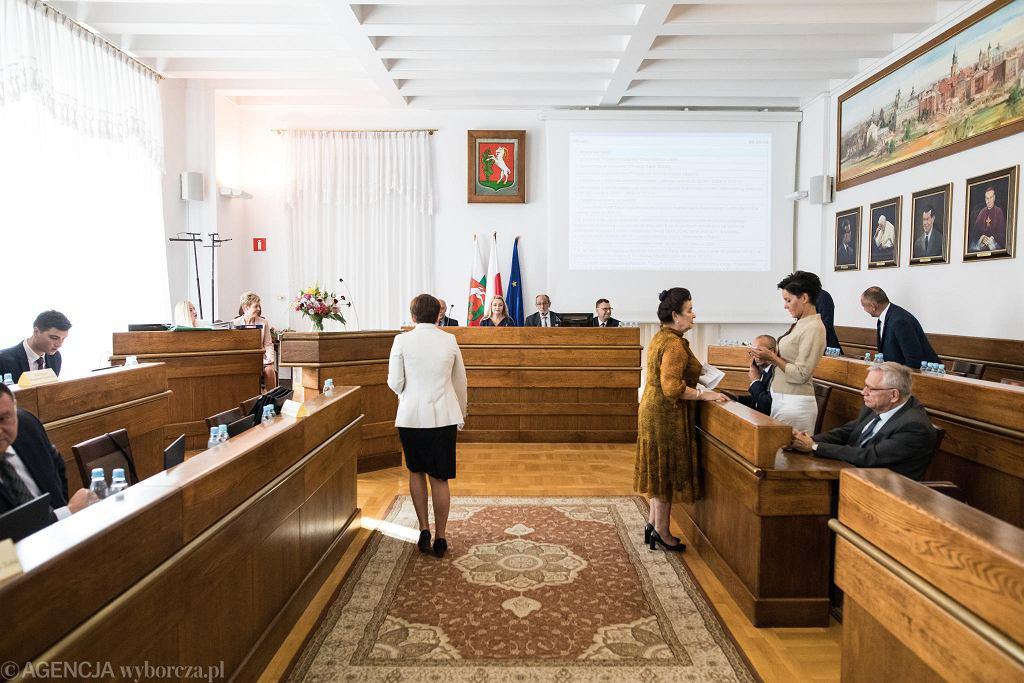 Lublin. Sesja rady miejskiej