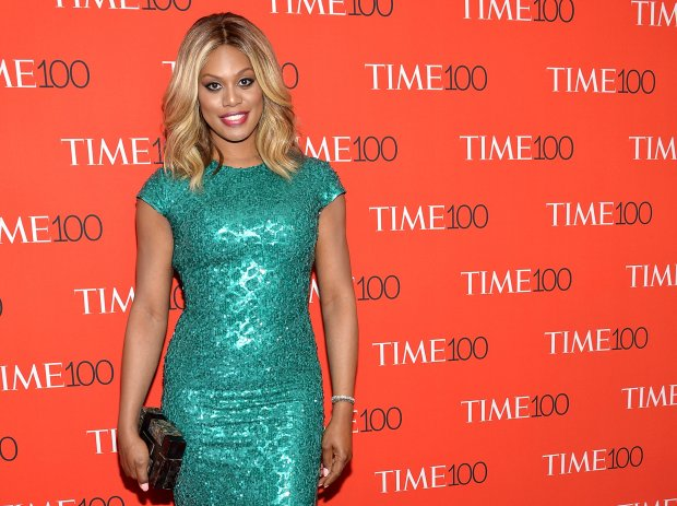 Actress Laverne Cox attends the TIME 100 Gala, celebrating the 100 most influential people in the world, at the Frederick P. Rose Hall, Time Warner Center on Tuesday, April 21, 2015, in New York. (Photo by Evan Agostini/Invision/AP)