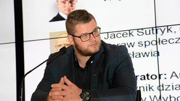 Młociarz Paweł Fajdek podczas Sportowej Pracowni Miast