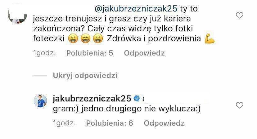 Komentarze na Instagramie Jakuba Rzeźniczaka