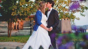 Ślub w jesiennym plenerze