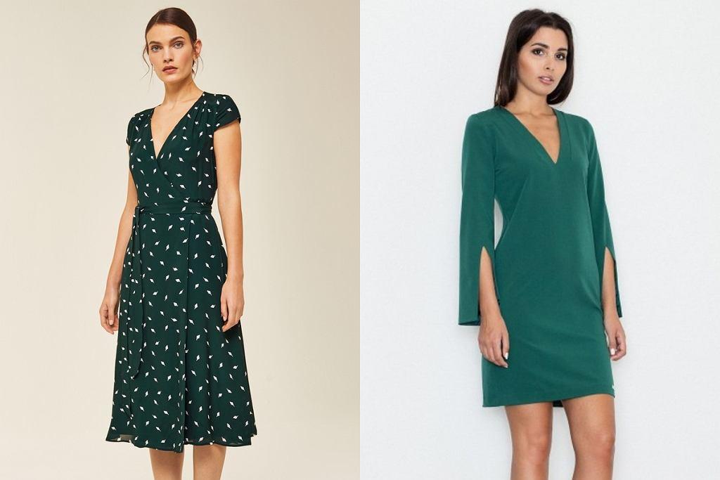 Szmaragdowe sukienki