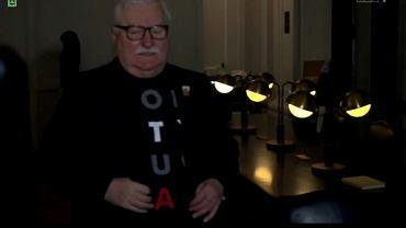 Lech Wałęsa w 'Wiadomościach' TVP