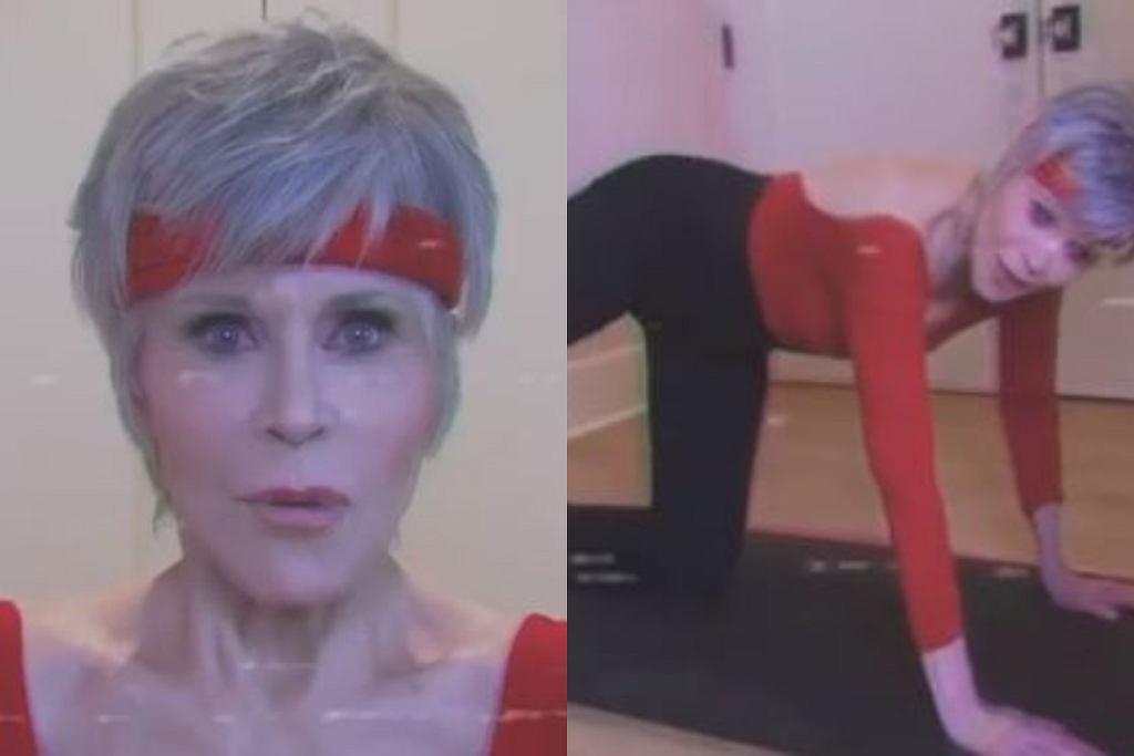 Jane Fonda treningiem zachęca do głosowania