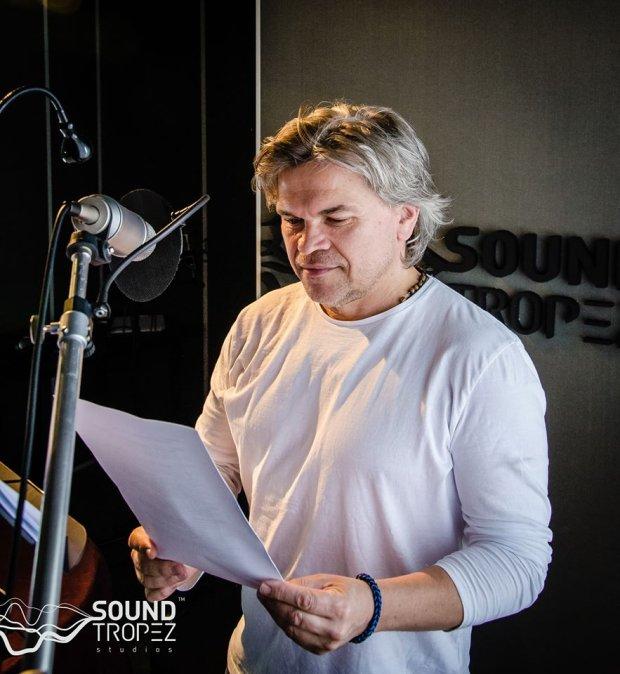 Jarosław Boberek w trakcie nagrania