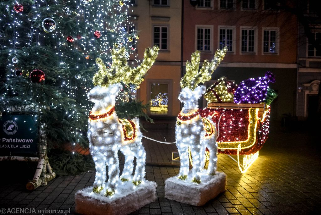 Boże Narodzenie. Dekoracje świąteczne w Zielonej Górze