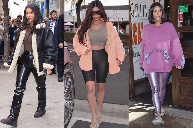 Kim Kardashian w casualowym wydaniu