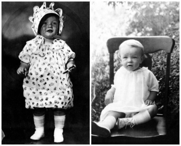 Marilyn Monroe jako dziecko