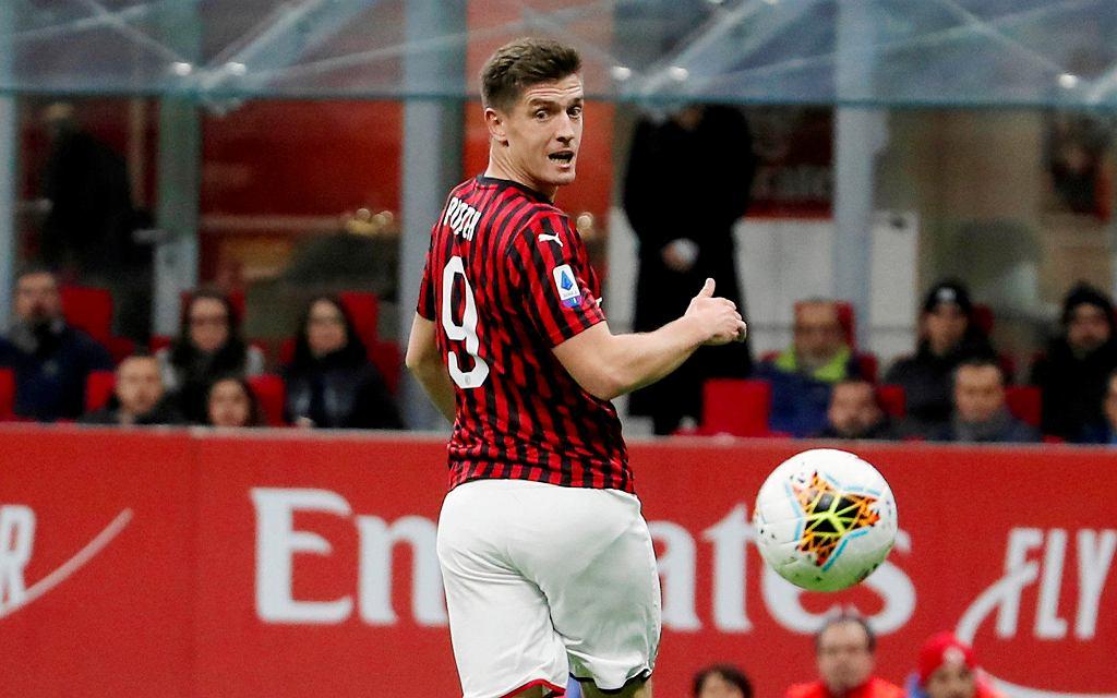 Krzysztof Piątek w koszulce AC Milan