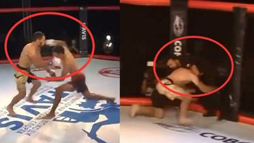 MMA w Rosji. Zawodnik znokautowany przez przeciwnika, a potem przez sędziego. Źródło: Twitter