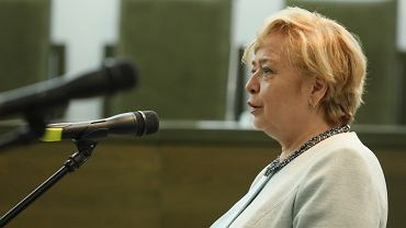 Pierwsza Prezes Sądu Najwyższego Małgorzata Gersdorf podczas konferencji prasowej. Warszawa. 30 maja 2019