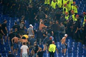 Liga Mistrzów. Zamieszki w Rzymie. Fan CSKA ugodzony nożem