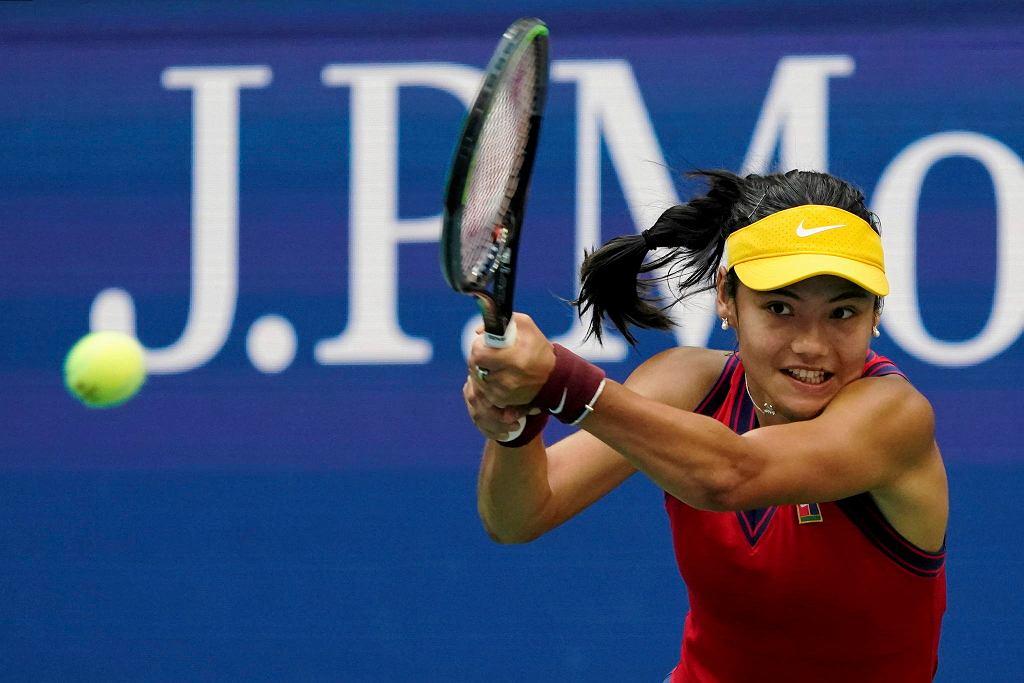 Emma Raducanu w finale US Open w meczu z Leylah Fernandez