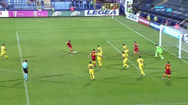 Spalony w meczu Czarnogóra - Rumunia