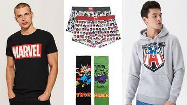 Kolaż / Ubrania Marvel / Materiały partnerów