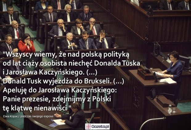 Ewa Kopacz do Jarosława Kaczyńsiego