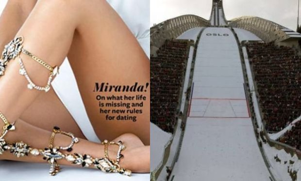 Miranda Kerr, skocznia narciarska