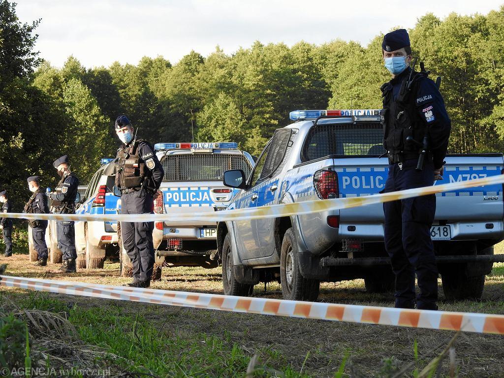 Policja na granicy w Usnarzu Górnym
