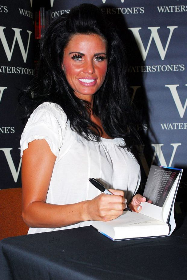 Mandatory Credit: Photo by Rex Features (783151f)  Katie Price  Katie Price 'Angel Uncovered' book signing at Waterstones, The Whitgift Centre, Croydon, Britain - 19 Jul 2008
