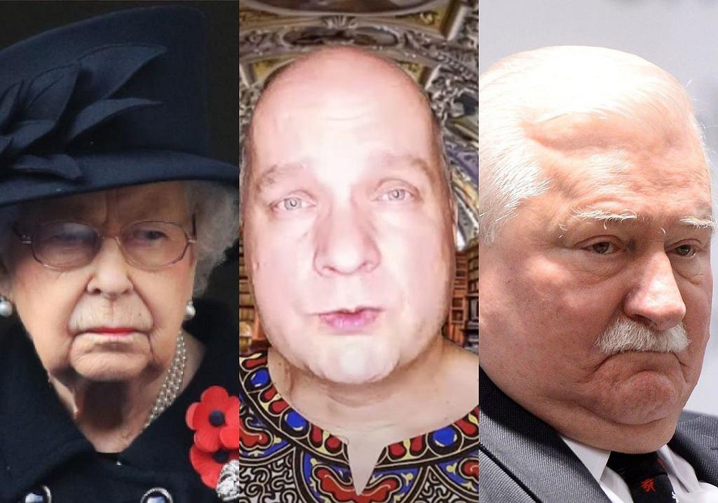Królowa Elżbieta II, Wojciech Glanc, Lech Wałęsa