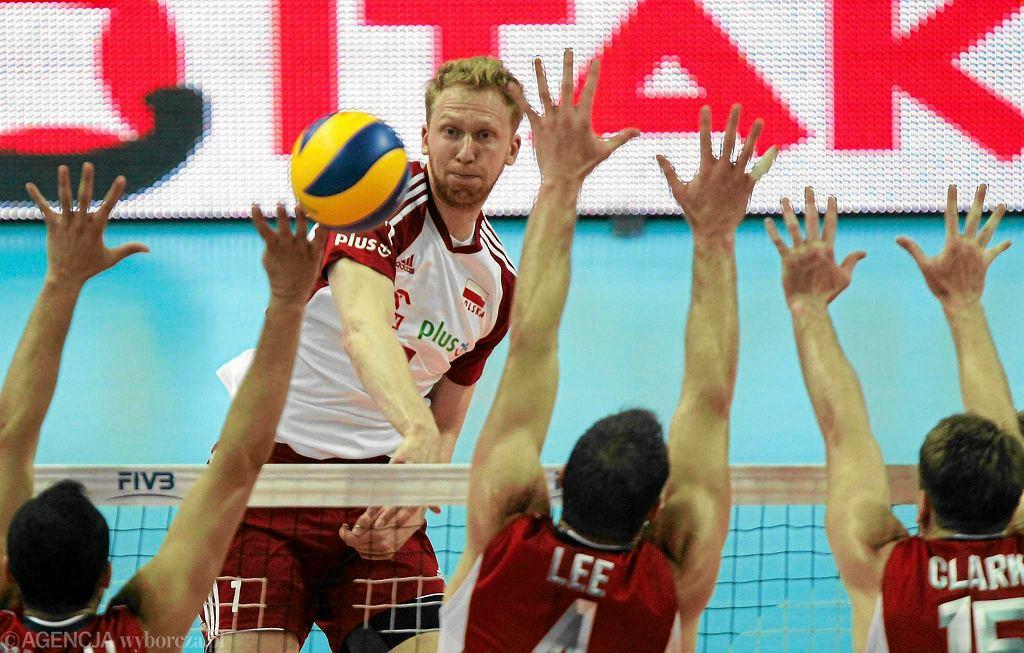 Jakub Jarosz w meczu Polska - USA
