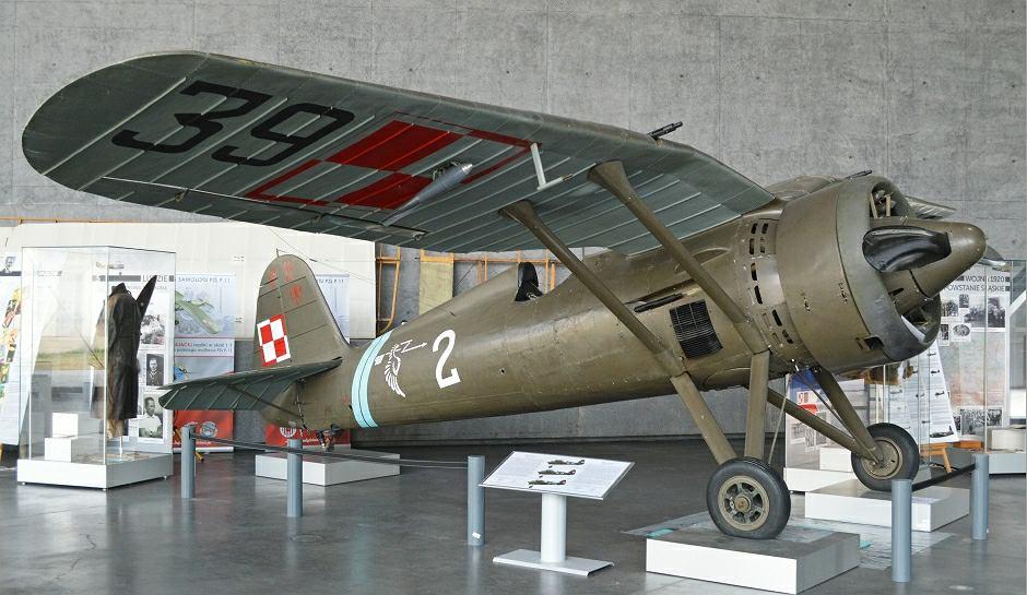 Samolot PZL P11c ze zbiorów Muzeum Lotnictwa w Krakowie