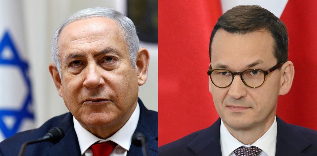 Benjamin Netanjahu i Mateusz Morawiecki