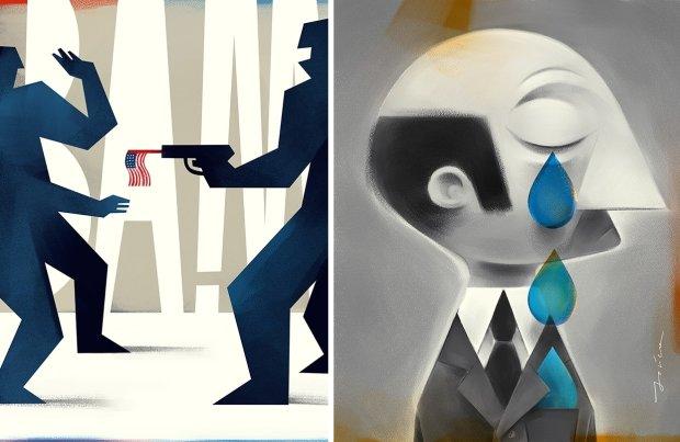 ''Social Classes'' (ilustracja, która trafiła na plan Modern Family) i ''Pride'' - Paweł Jońca