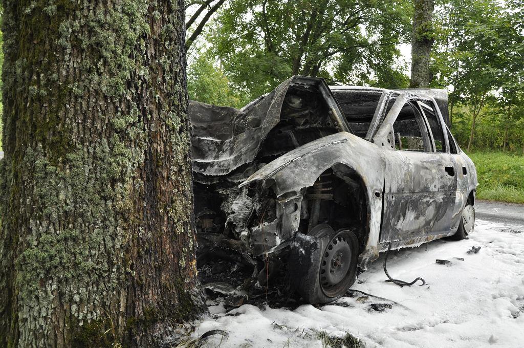 Wypadek na trasie Lidzbark Warmiński - Orneta