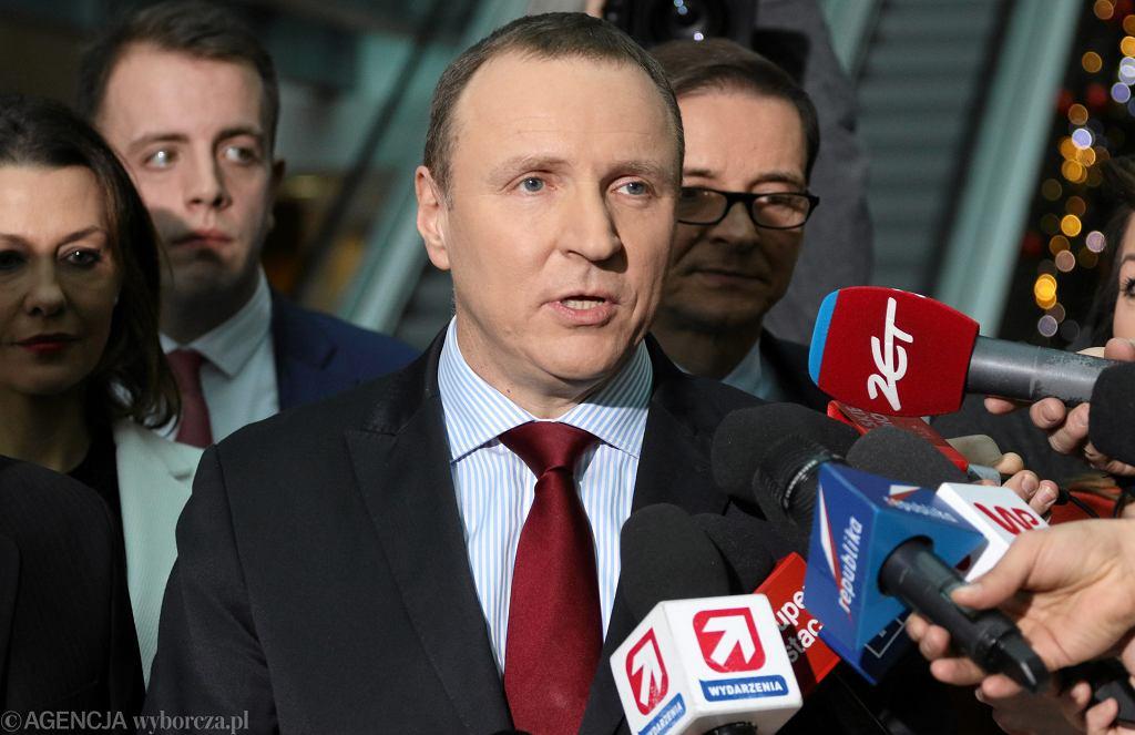 Jacek Kurski w siedzibie TVP