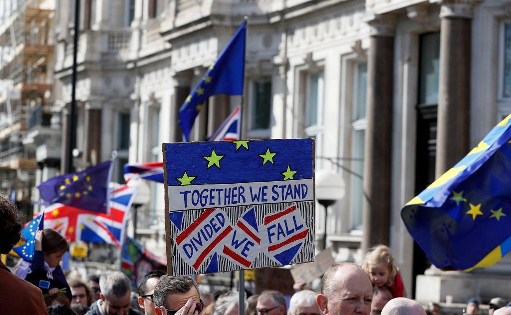 Protest przeciwników Brexitu, 25 marca 2017