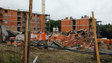 W Bielsku-Białej zawalił się budowany blok