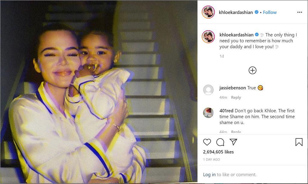 Khloe Kardashian, Screenshot, Instagram