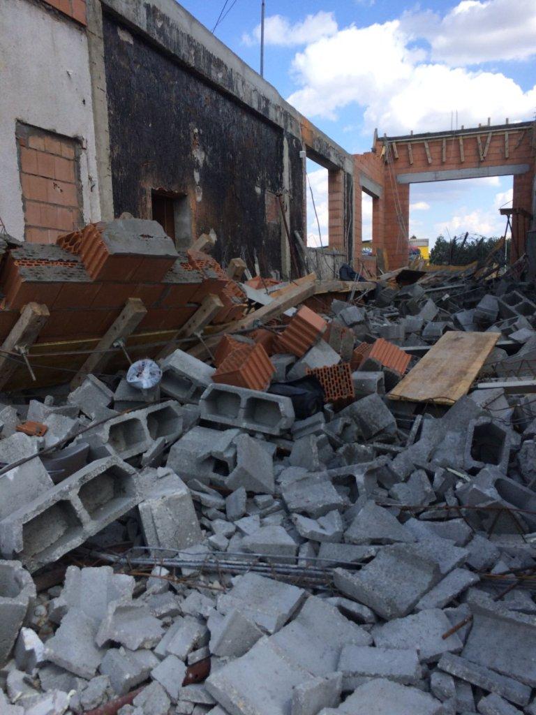 Jędrzejów, katastrofa budowlana.