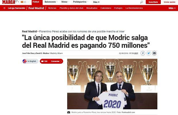 Florentino Perez zdradził, ile trzeba zapłacić za Lukę Modricia