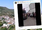 W hiszpańskim miasteczku złamali nakaz izolacji. Mieszkańcy zorganizowali zabawę uliczną