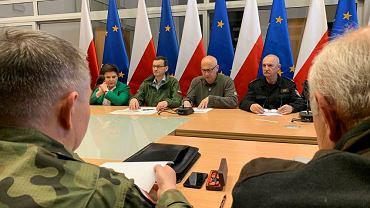 Kraków. Sztab zarządzania kryzysowego w związku z ulewami i podtopieniami