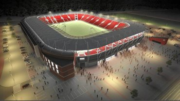 Wizualizacja nowego stadionu w Łodzi