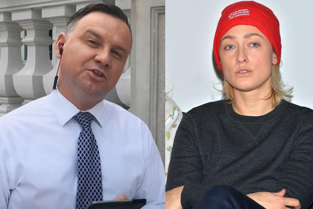 Matylda Damięcka komentuje rap Andrzeja Dudy