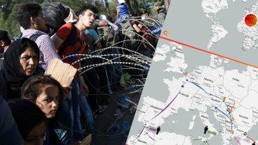 Imigranci na granicy Grecji i Macedonii
