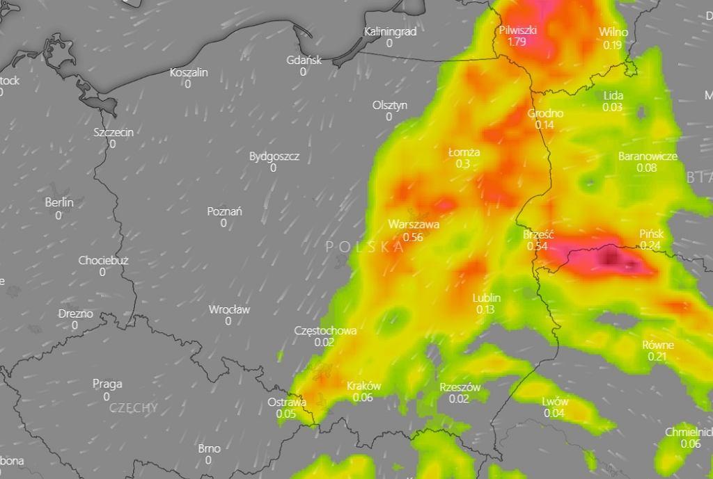 Burze w Polsce - środa 17 czerwca.
