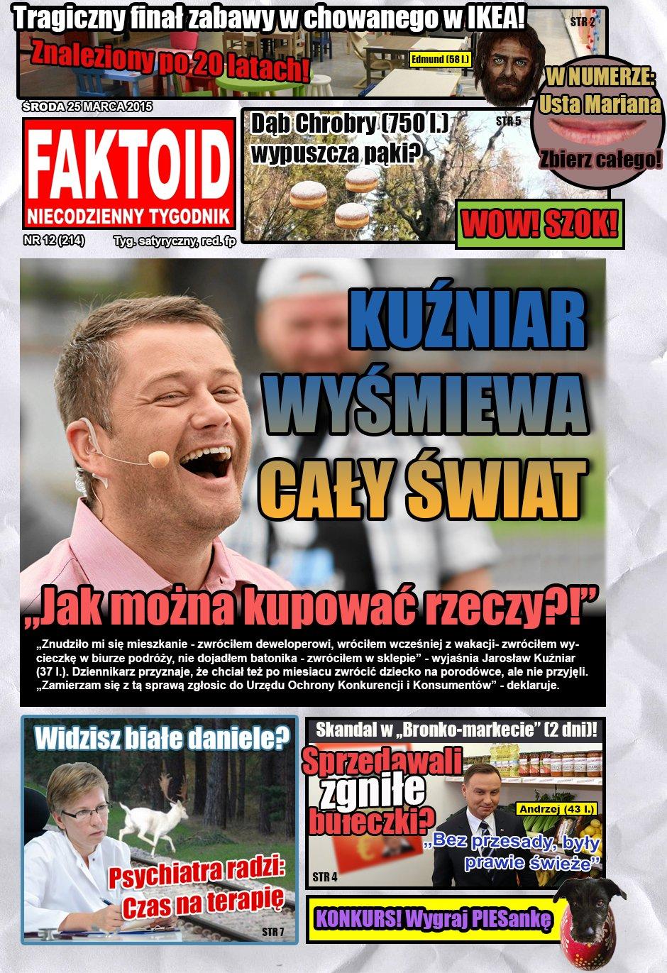 Faktoid, 25 marca, nr 12 (214)  - Gazeta.pl