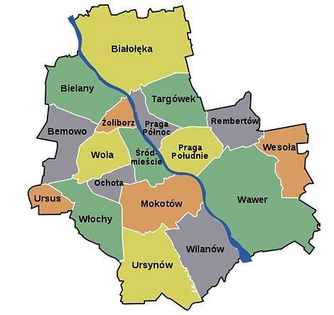 dzielnice Warszawy