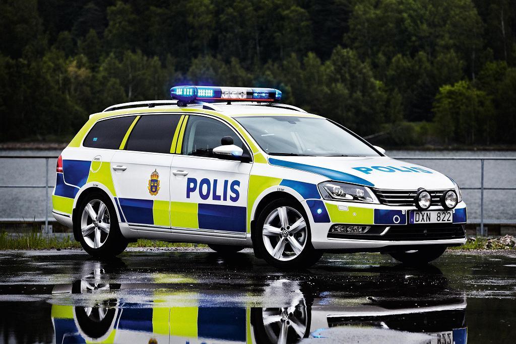 Radiowóz szwedzkiej policji [zdjęcie ilustracyjne]