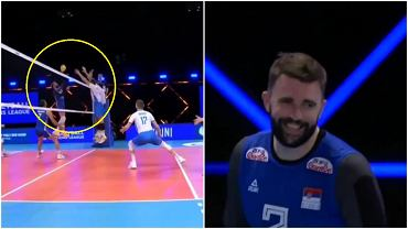 Uros Kovacević z pięknym zagraniem podczas meczu Serbii ze Słowenią